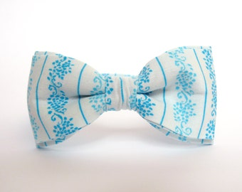 Azure Bow Tie Wedding Bow Tie for Men Turquoise Bow Tie Aquamarine Bow Tie for Women Folklore Bow Tie White Bow Tie Mens Bow Tie Groomsmen