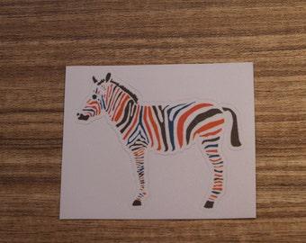 Zebra Sticker, 100% Waterproof Vinyl Sticker, Pop Culture Sticker, 3M Sticker
