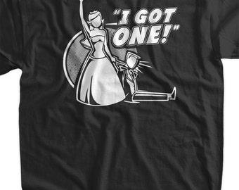 Funny wedding tshirt i got one wedding t shirt bridal for Bridal shower t shirt sayings