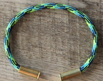 BRZN Recycled .22lr Bullet Casing Electric Gecko Camo 550 Paracord Bracelet