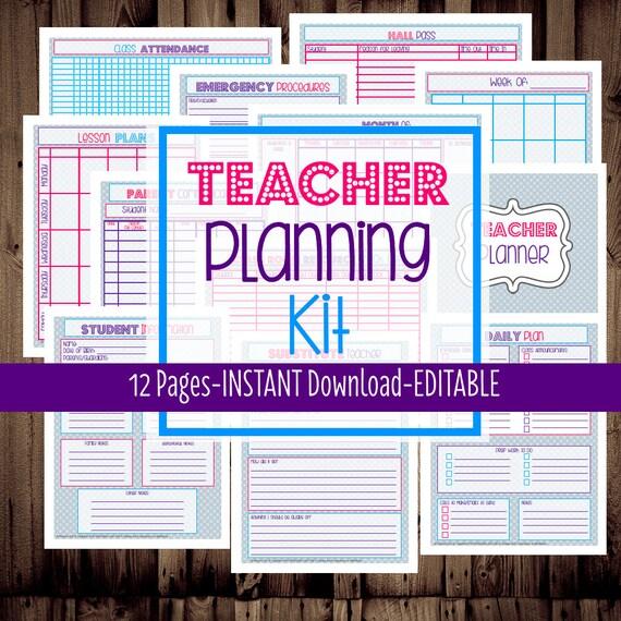 Teacher Planner-Printable Teacher by MamasGotItTogether on ...