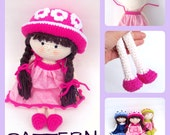 Pattern, crochet doll,  TootyLou, 13 inches