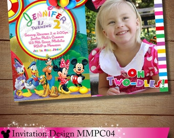 HUGE SELECTION Mickey Minnie Mouse Clubhouse Invitation, Clubhouse Photo Invitation, Clubhouse Birthday Invitation, Clubhouse Printables