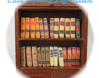 25 LAW LIBRARY Old Books Miniature Dollhouse Scale 1:12 Scale Prop Books Fill a Bookshelf
