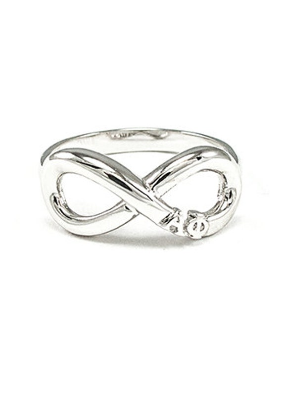 alpha phi sterling silver infinity ring by