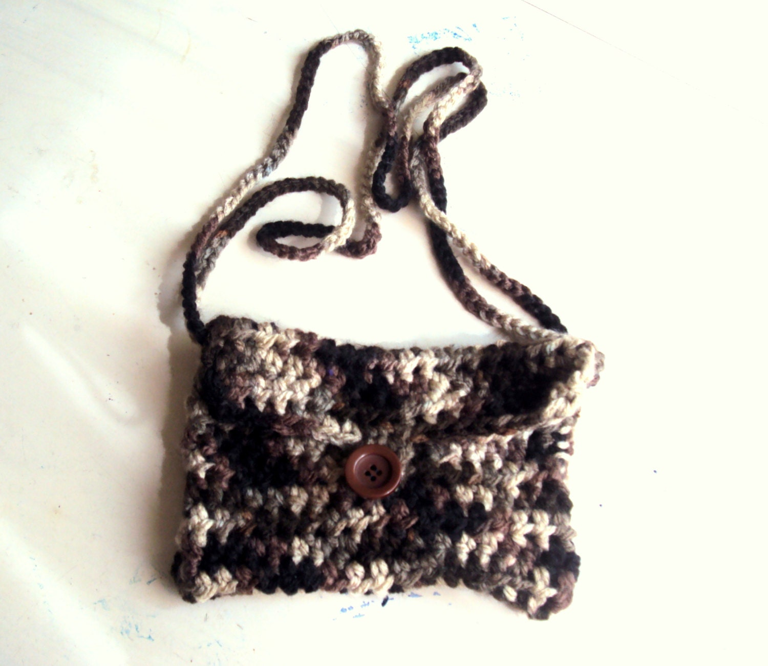 Crochet Shoulder Bag : Crochet Purse Shoulder Bag Easy to Carry Purse by GrahamsBazaar