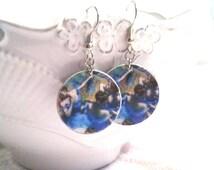 Degas Earrings - Degas Jewelry - Ballet Earrings - Ballet Jewelry - Ballerina Earrings - Ballerina Jewerly (Lead and Nickel Free -- BLUE)