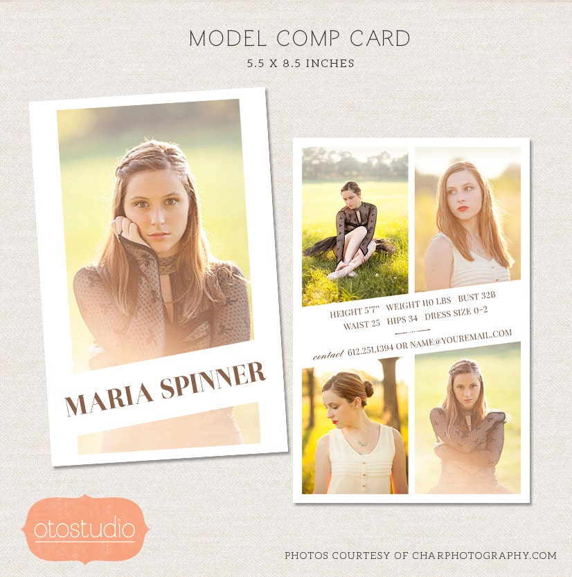 free comp card template - 50 sale model comp card photoshop template editorial chic