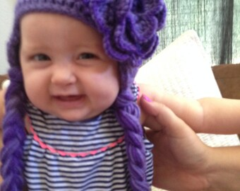 Floral Baby Earflap Hat
