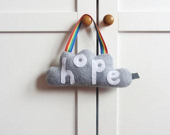 Hope Cloud Wall Hanging, Cloud of Hope, Cloud Decor