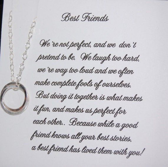 Best Gift For Elder Sister On Her Wedding : BEST FRIEND Necklace, Christmas Gift, Friendship, Sister, Maid of ...