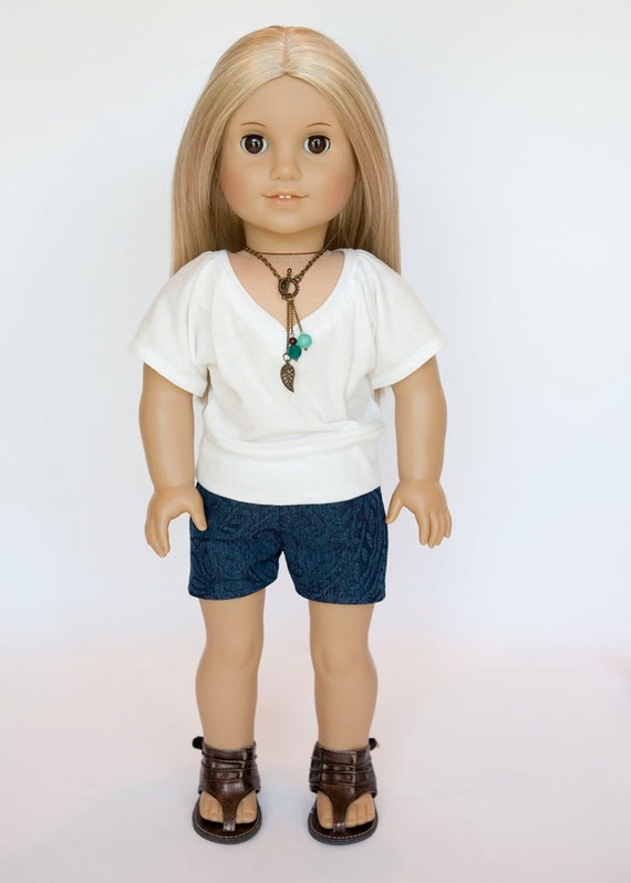 how to make american girl doll shorts