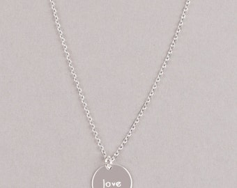 LOVE-Necklace, Sterling Silver, Valentines Day Gift