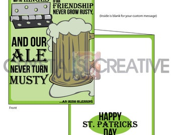 Irish Blessing St Patricks Day Greeting Card