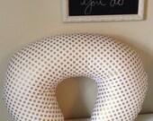 boppy slip cover: metallic gold dot