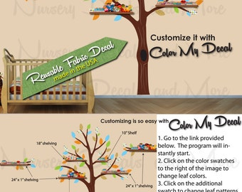 Tree Wall Stickers, Baby Boy Wall Decals (Expedition Paradise Tree Only) ETO, Nursery Wall Decals