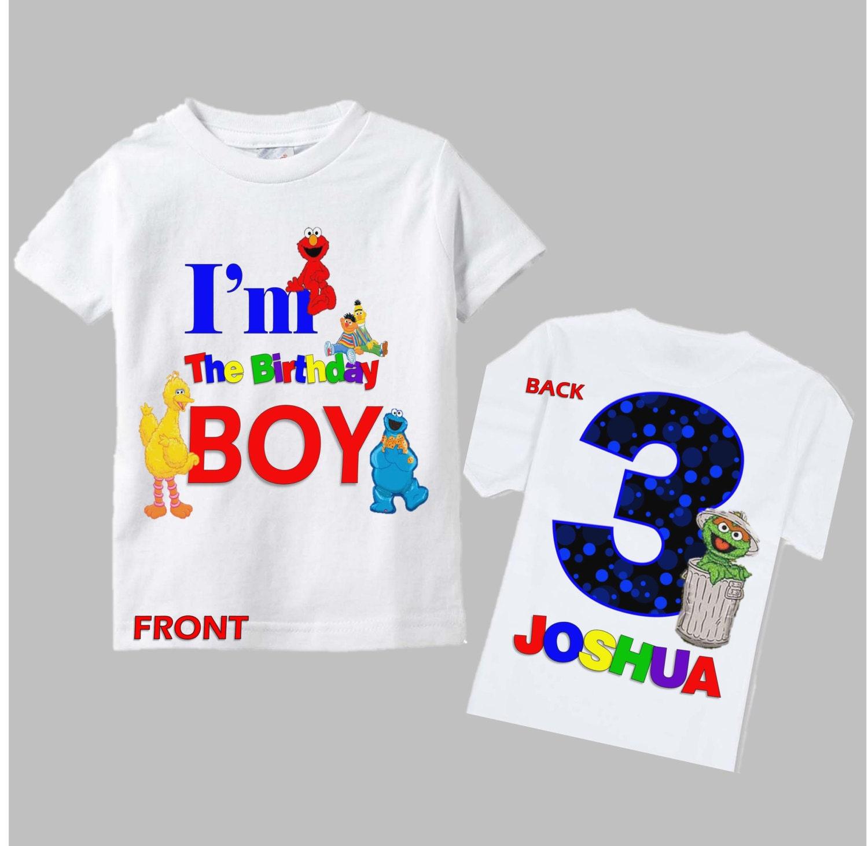 Sesame Street Birthday Shirt Boys Sesame Street Birthday