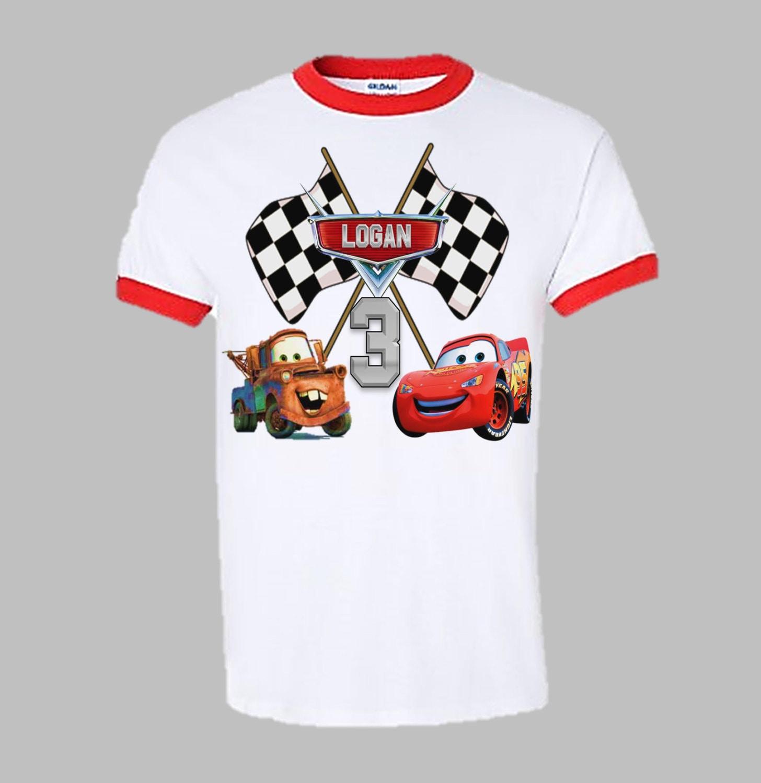 Disney Cars Birthday Shirt Cars Birthday Ringer by ...