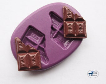 Chocolate Bar Candy Duo Mold/Mould - Decoden Sweets Kawaii - Silicone Molds - Polymer Clay Resin Fondant