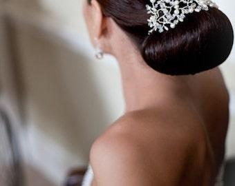 Pearl and Crystal Bridal Headpiece