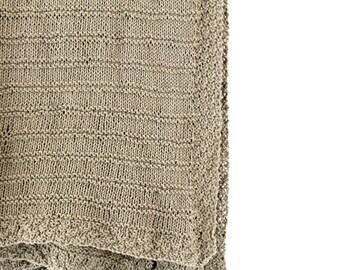 Knitting Pattern For Bassinet Blanket : Popular items for beginner knit on Etsy
