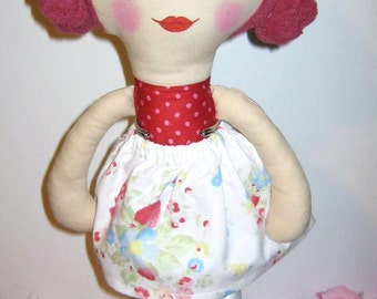 Cloth doll Hania, handmade, OOAK
