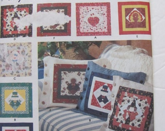 Simplicity 7879, Seasonal Pillow Covers for 16 Inch Square Pillows, Christmas, valentines, Halloween