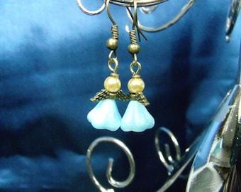 Tiny Angel Earrings