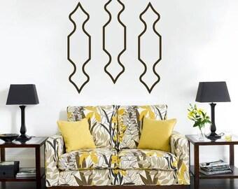 Moroccan Decor, Geometric Wall Decal Sticker, Moroccan Decal, Wall Decor