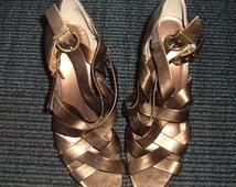 retro Club Couture high heels, 80s high heels, metallic high heels, womens high heels, strappy high heels, retro high heel shoes , shoes s7