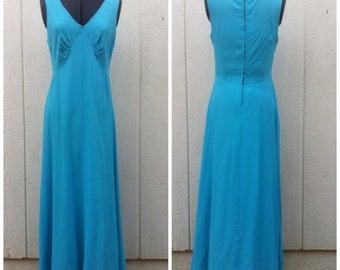 Vintage Maxi Dress Blue