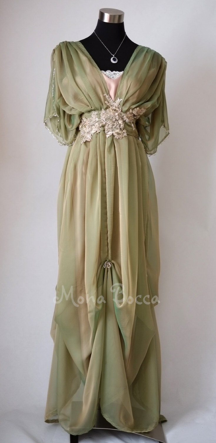 Edwardian dress Downton Abbey inspired handmade in England