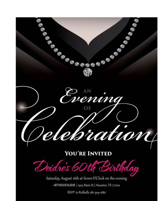 gown invitation birthday party invite for by announceitfavors