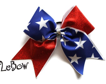 Cheer Bow Red, White and Blue