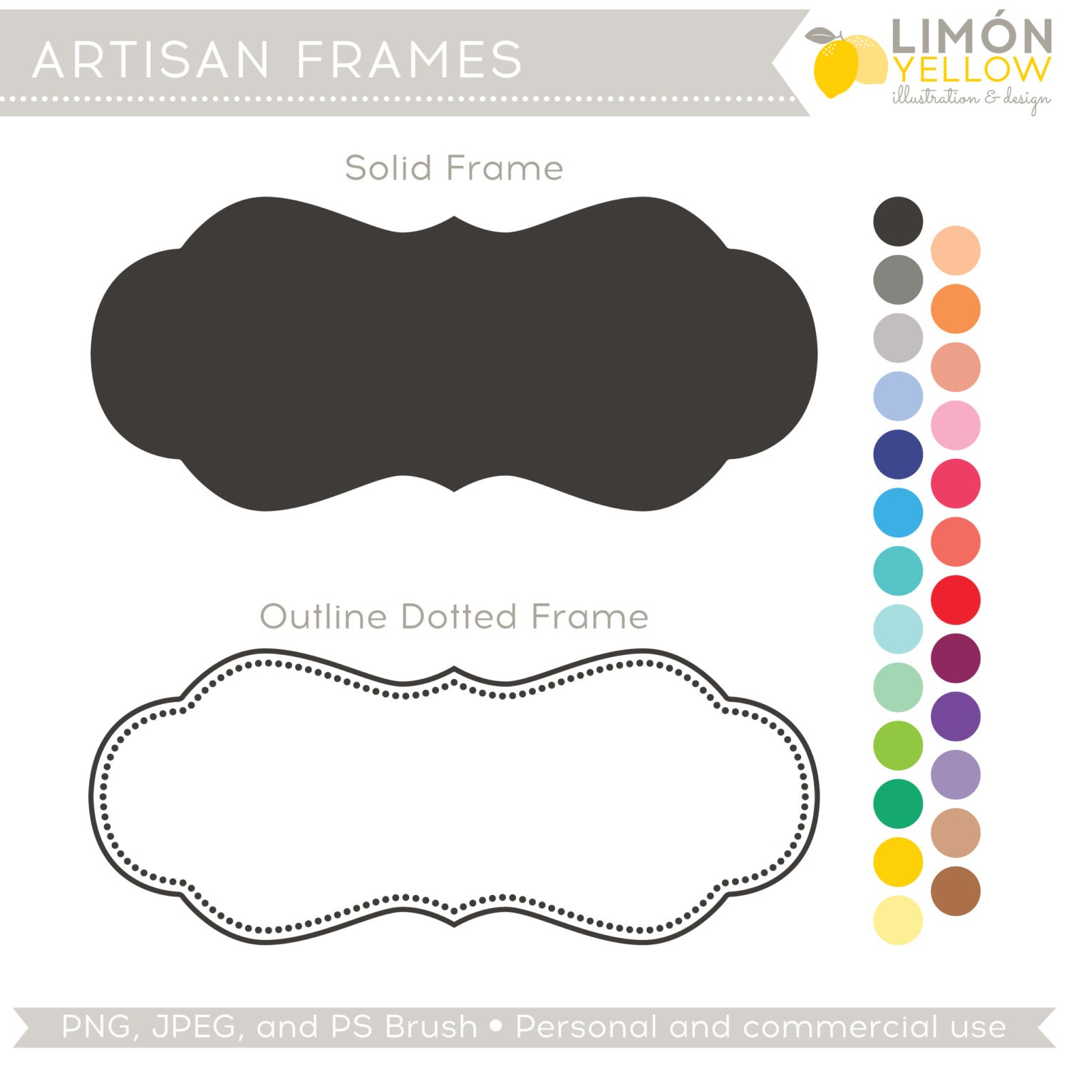 Glasses Frame Outline : Items similar to Colorful Solid and Outline Frames Clip ...