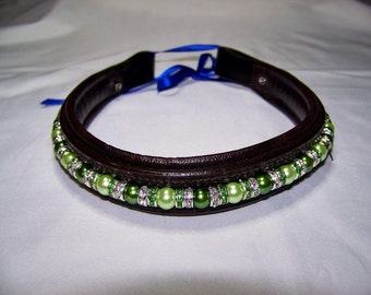 Extra-Over Size Beaded Browband - Fully custom with interchangeable beads