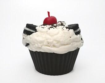 Jumbo Cookies and Cream Cupcake Candle