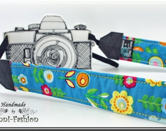 Camera strap, DSLR, camerastrap, photographie, colorful, turquoise