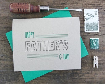 Happy Father's Day Letterpress Greeting Card