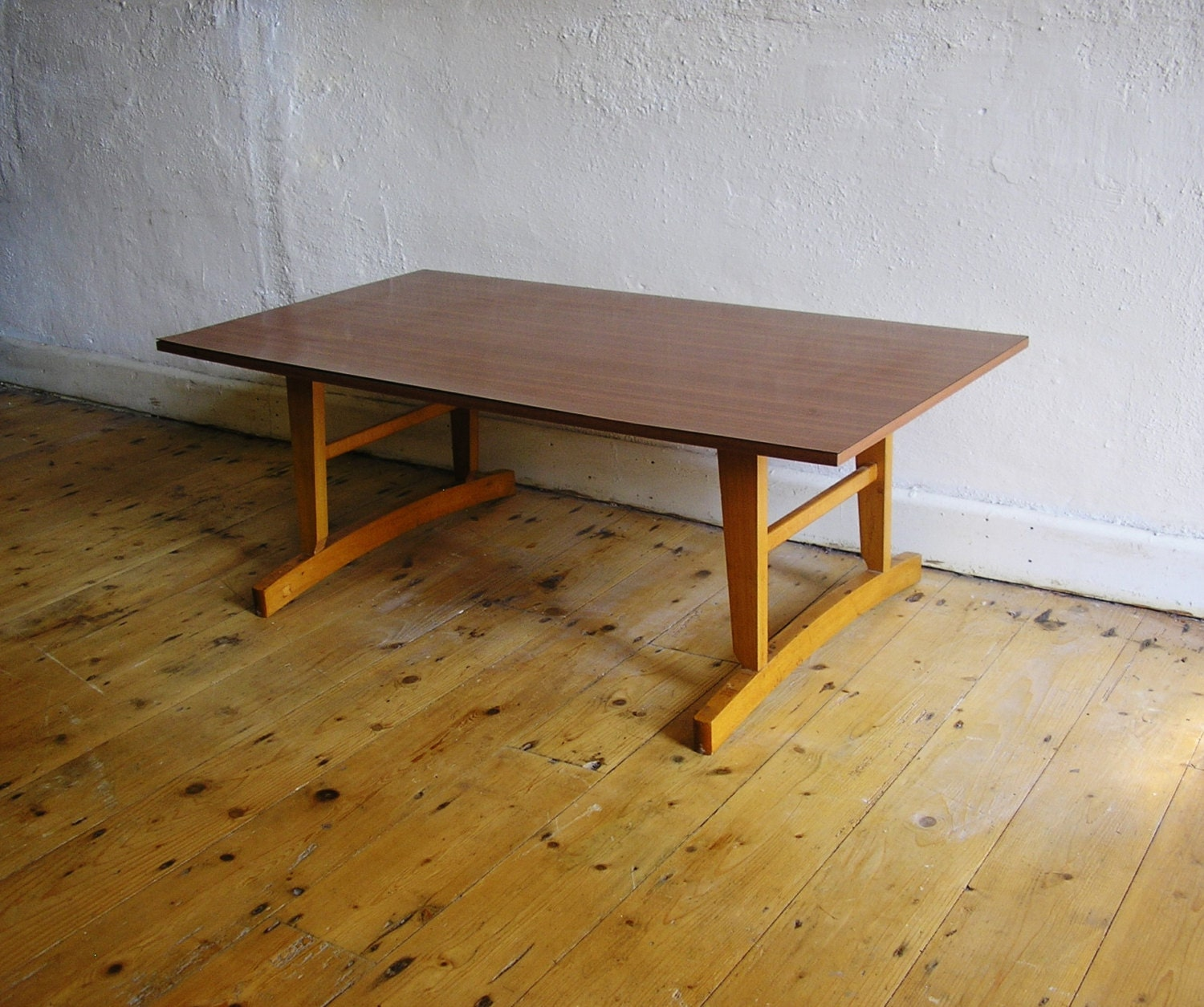 Mid century coffee table formica top viintage by theirishbarn Formica coffee table
