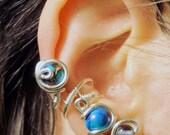 Silver Imperial Jasper Ear Cuff
