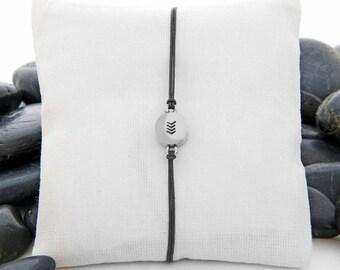 Chevron Sterling Silver Bracelet, Chevron Charm, Chevron Bracelet, Silver Chevron, Geometric Bracelet, JIB246CSS