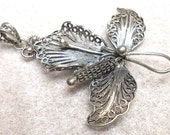 Sterling Silver Filigree Orchid Pendant- By Margaret Hagopian-Slack One of a Kind