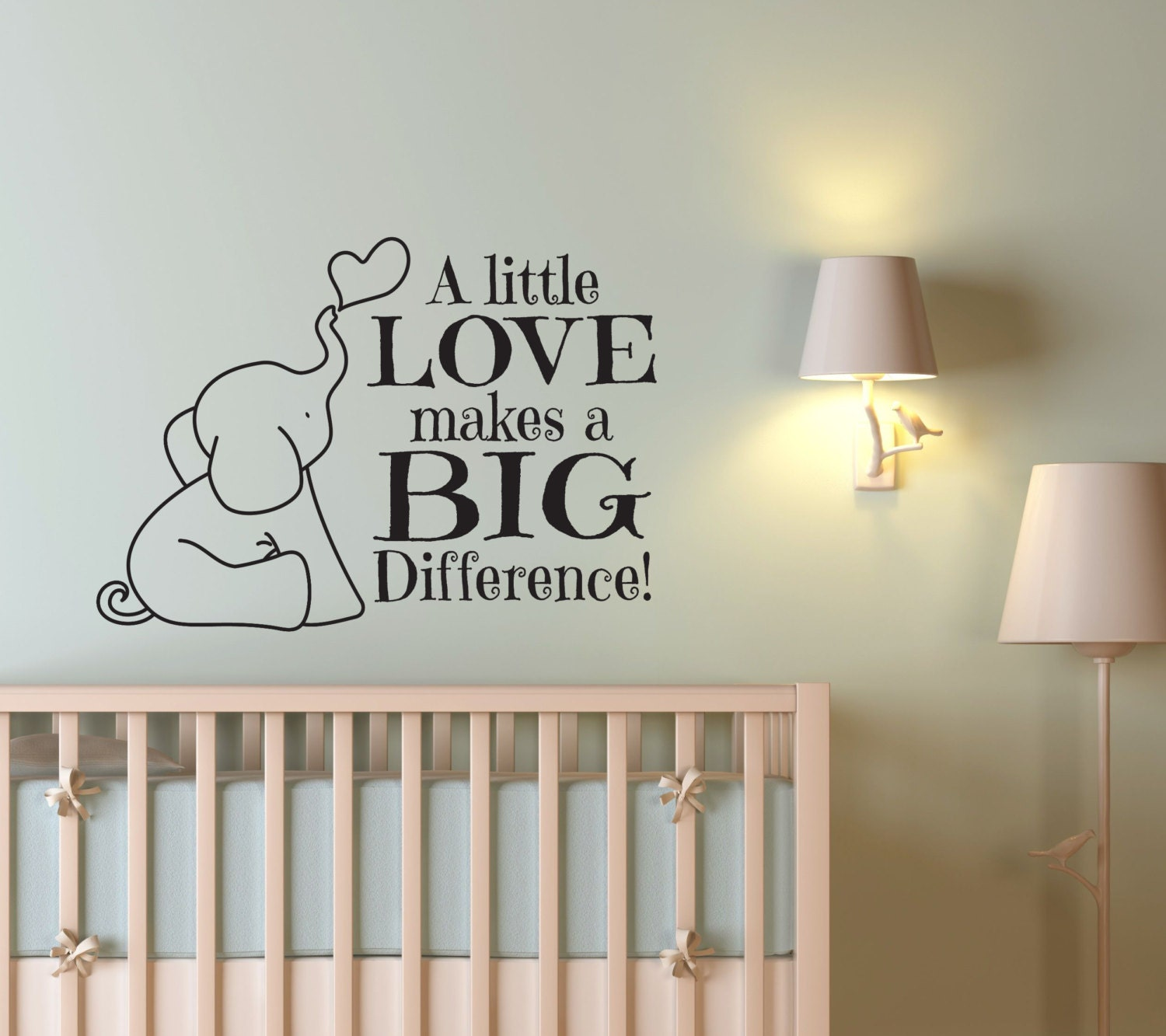 Nursery decor elephant nursery decor elephant wall decal for Baby nursery wall decoration