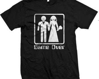 GAME OVER - Hilariously Funny Marriage T-shirts