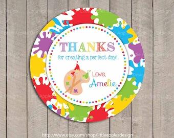 Art Party Favor Tags / Kids Art Party Favor Tags / Printable Art Party Gift Tag / Art Party Printable / Art Party Decoration