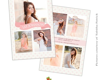 INSTANT DOWNLOAD - Modeling Comp Card Photoshop templates - CA398