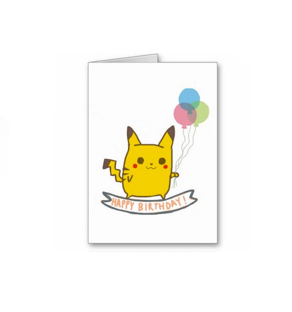 Birthday Cards Pokemon: Cute Mouse Monster Birthday Greeting Card By TurtlesSoup