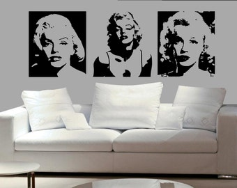3set Of Marilyn Monroe Sexy Decal Living Room Bed Room Dining Room Decal  Wall Mural Home