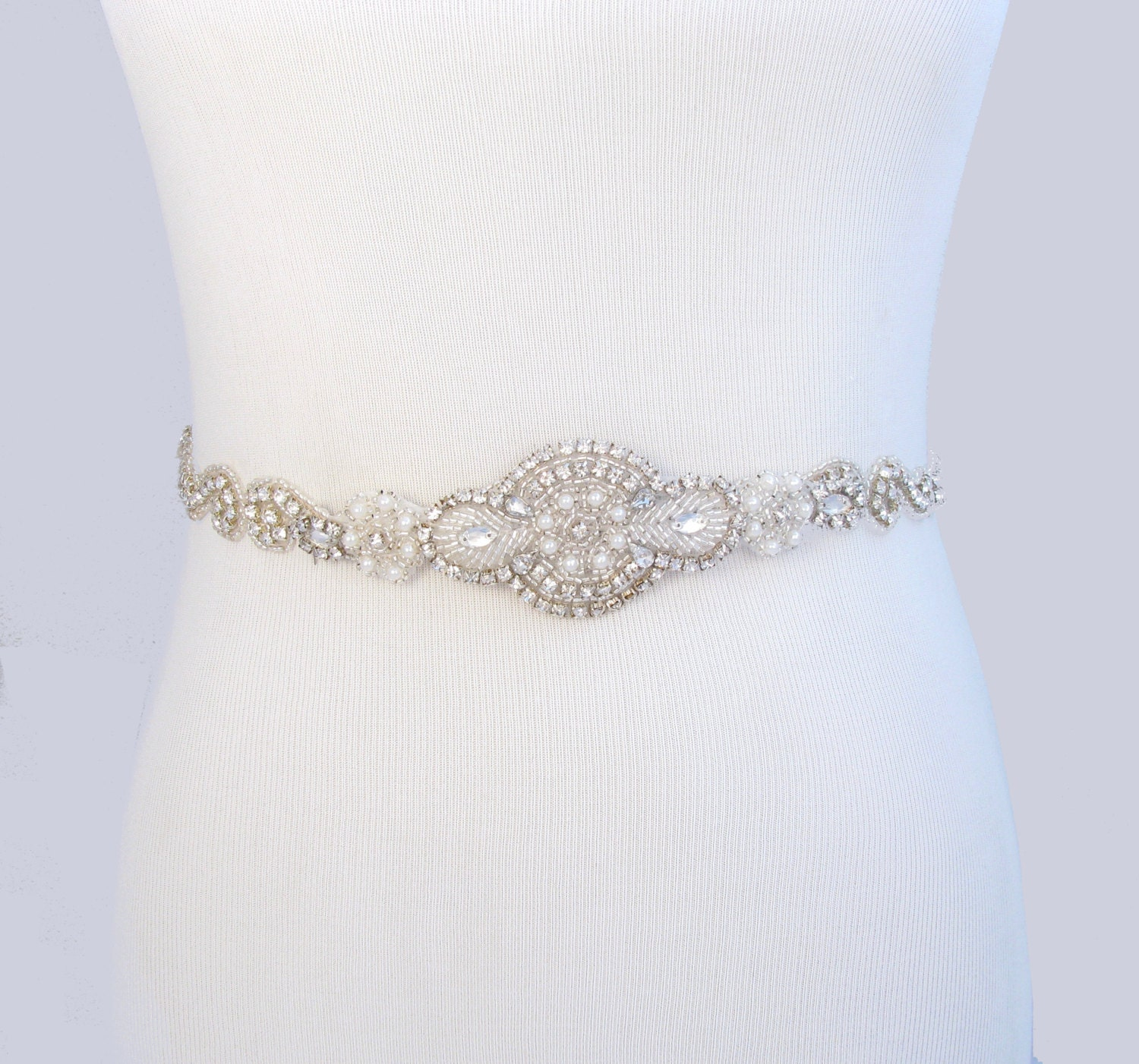 Crystal rhinestone wedding dress sash satin ribbon bridal for Wedding dress sash with rhinestones